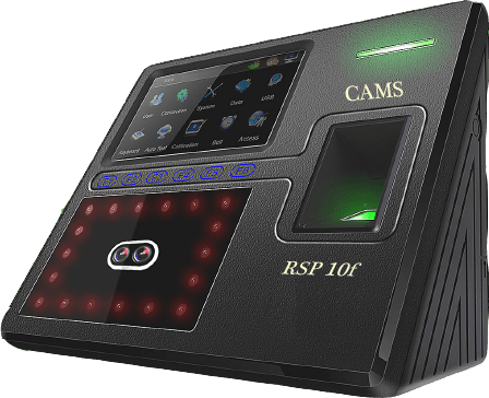CAMS RSP10f1, face recognition biometrics attendance system with WebApi and Cloud support